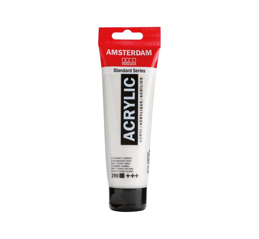 Amsterdam acrylverf 120ml standard 290 Titaanbuff donker