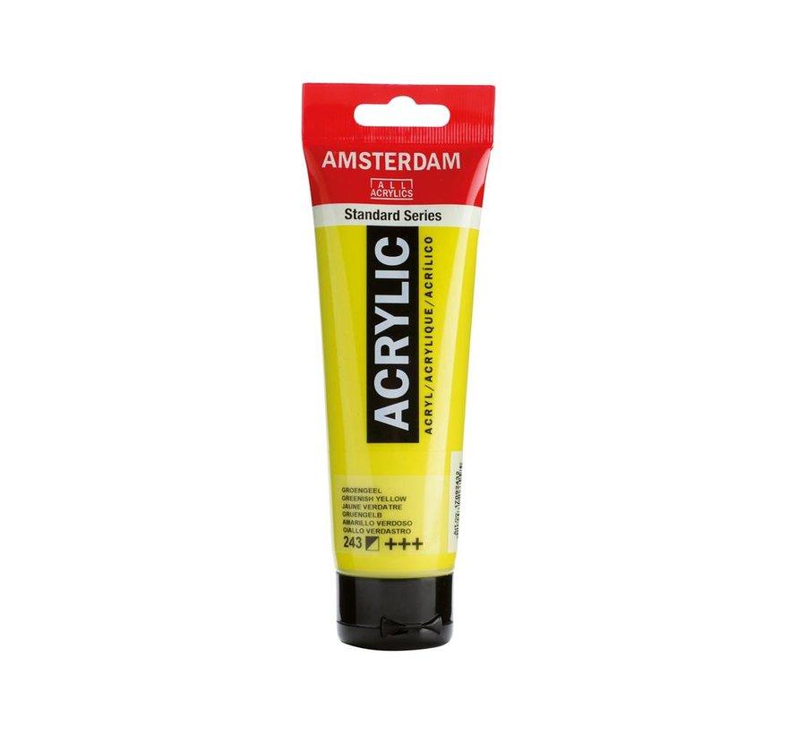Amsterdam acrylverf 120ml standard 243 Groengeel