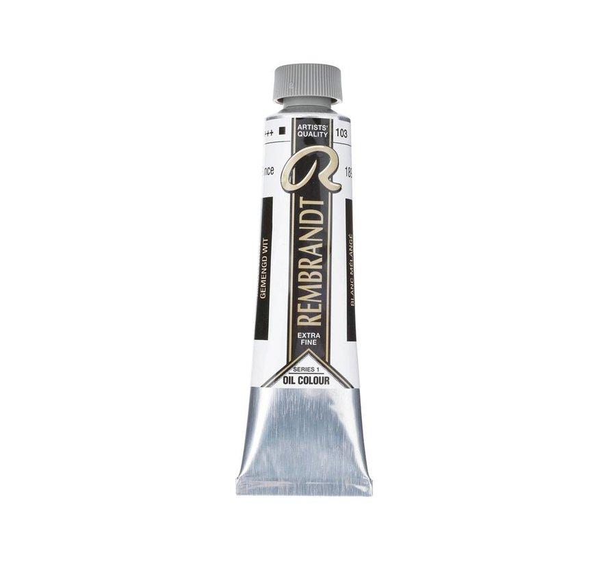 Rembrandt 40ml olieverf 103 Gemengd wit
