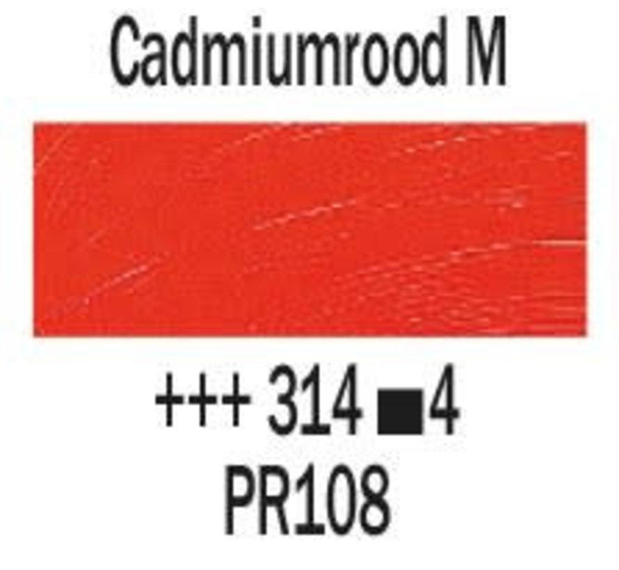 Rembrandt 40ml olieverf 314 Cadmiumrood middel