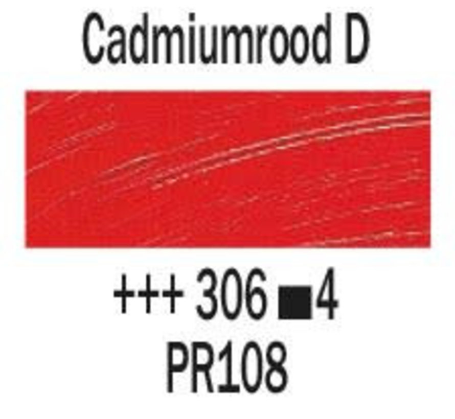 Rembrandt 40ml olieverf 306 Cadmiumrood donker