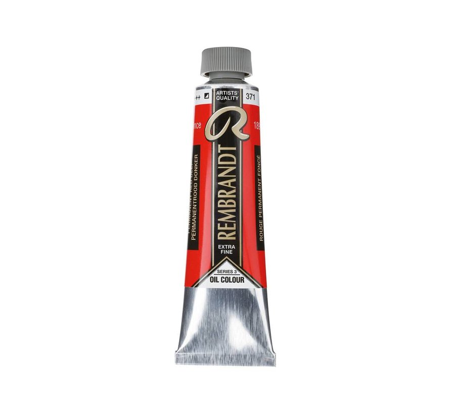 Rembrandt 40ml olieverf 371 Permanentrood donker