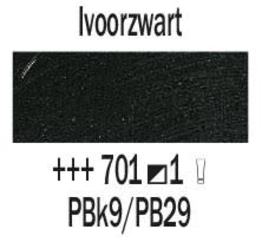 Rembrandt 40ml olieverf 701 Ivoorzwart