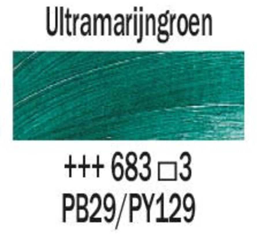 Rembrandt 40ml olieverf 683 Ultramarijngroen