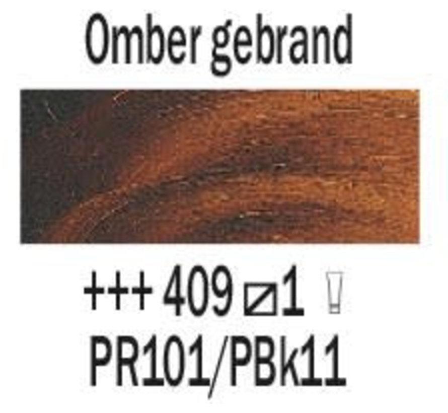 Rembrandt 40ml olieverf 409 Omber gebrand