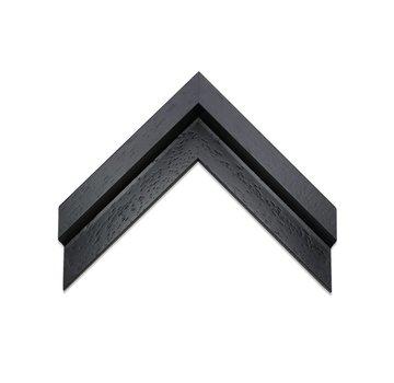 Schoot Baklijst 3D satijn zwart