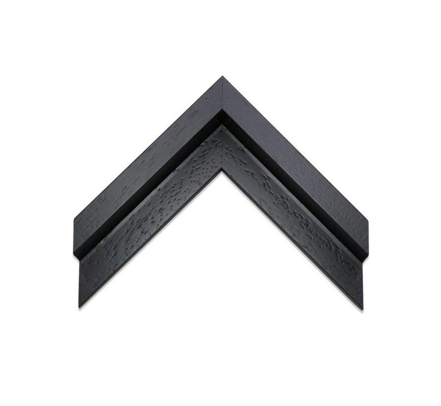 Baklijst 3D satijn zwart