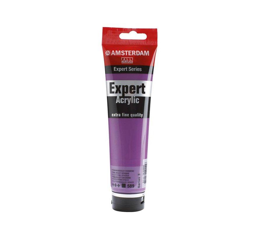 Amsterdam expert 150ml acrylverf 589 Permanentviolet dekkend
