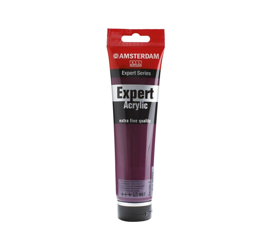 Amsterdam expert 150ml acrylverf 567 Permanentroodviolet