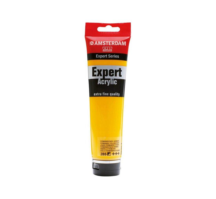 Amsterdam expert 150ml acrylverf 285 Permanentgeel donker