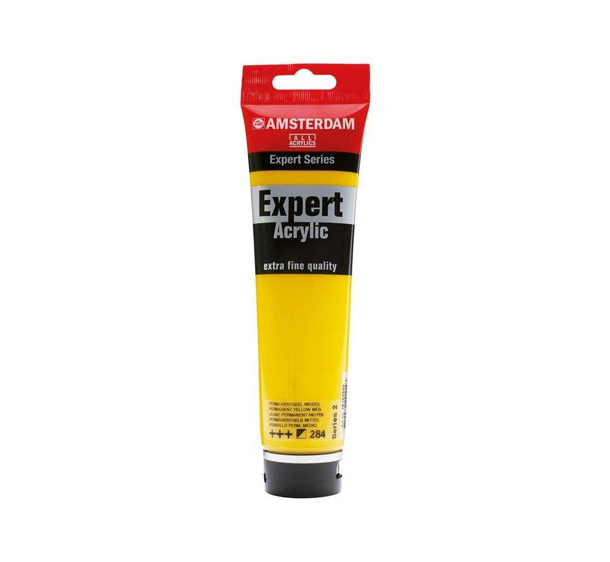 Amsterdam expert 150ml acrylverf 284 Permanentgeel middel
