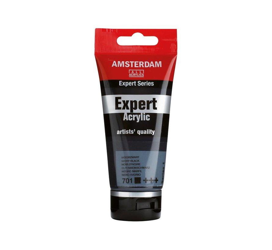 Amsterdam expert 75ml acrylverf 701 Ivoorzwart