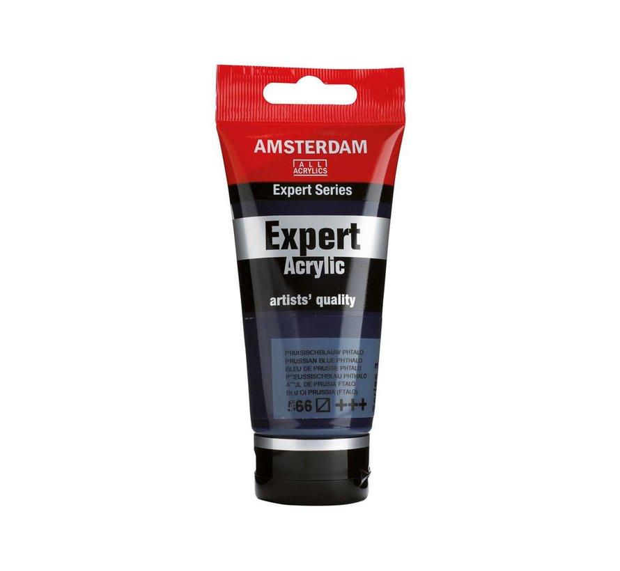 Amsterdam expert 75ml acrylverf 566 Pruissischblauw phtalo