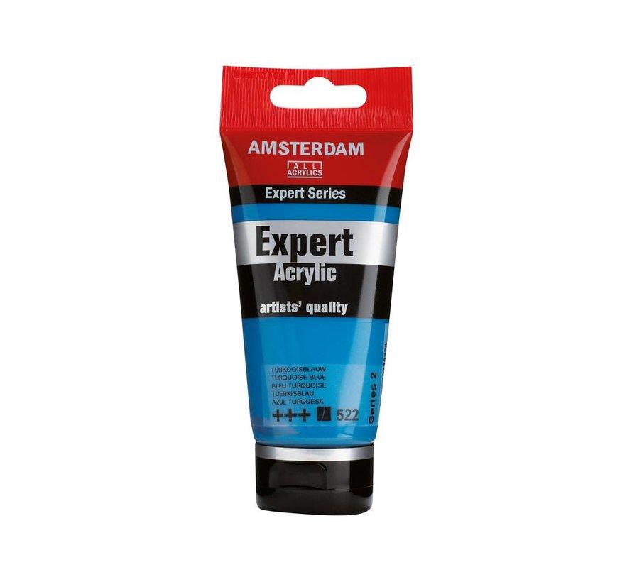 Amsterdam expert 75ml acrylverf 522 Turkooisblauw