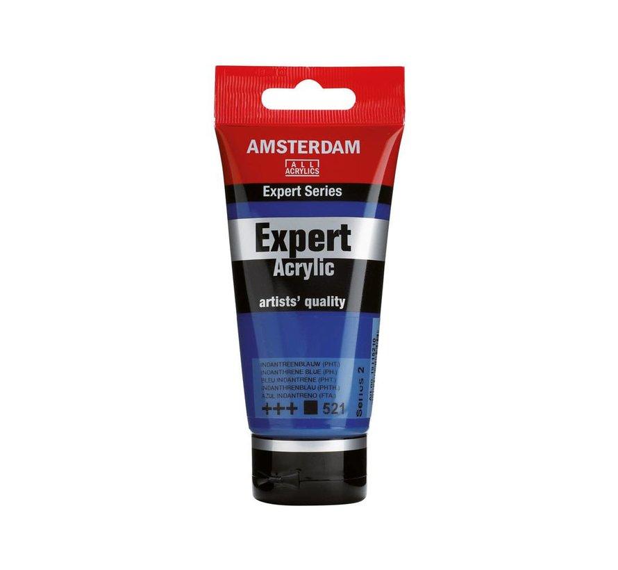 Amsterdam expert 75ml acrylverf 521 Indantreenblauw phtalo