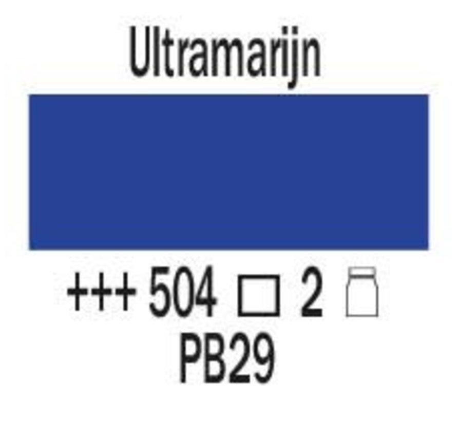Amsterdam expert 75ml acrylverf 504 Ultramarijn