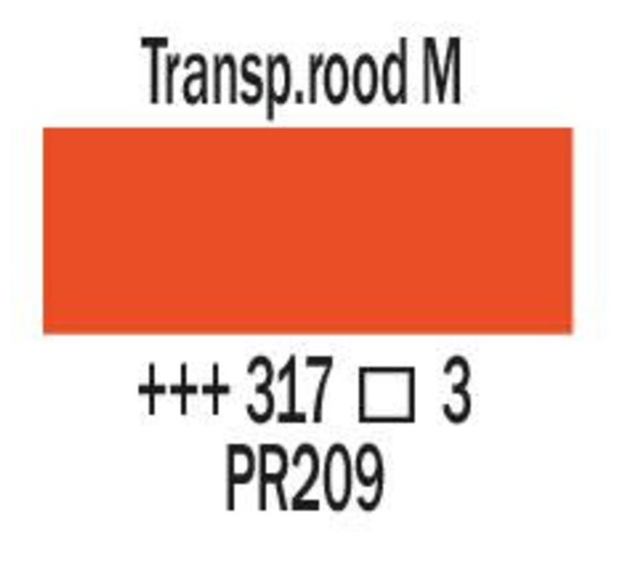 Amsterdam expert 75ml acrylverf 317 Transparantrood middel