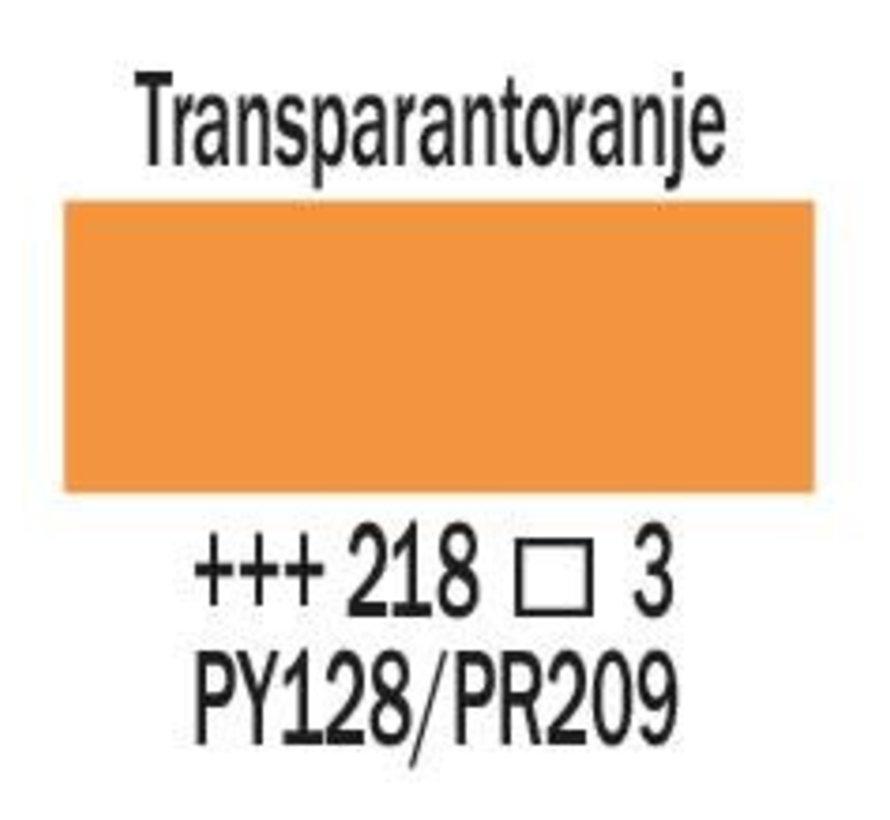 Amsterdam expert 75ml acrylverf 218 Transparantoranje