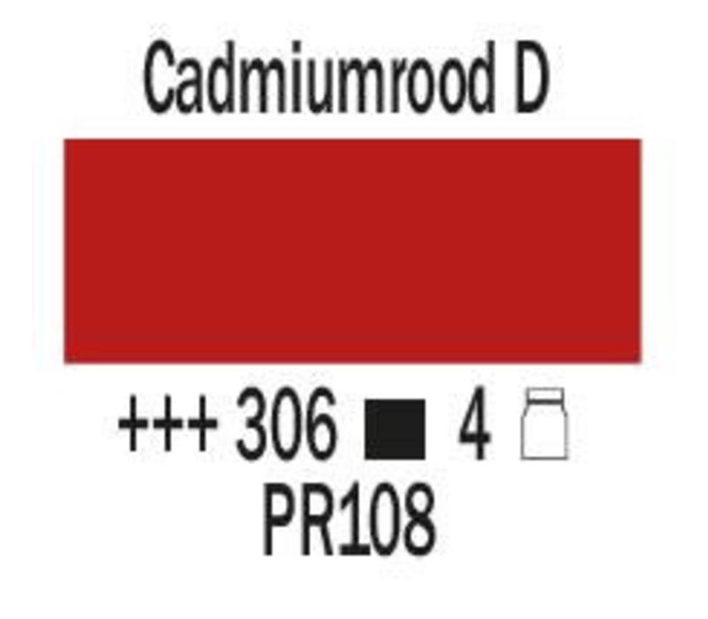 Amsterdam expert 75ml acrylverf 306 Cadmiumrood donker