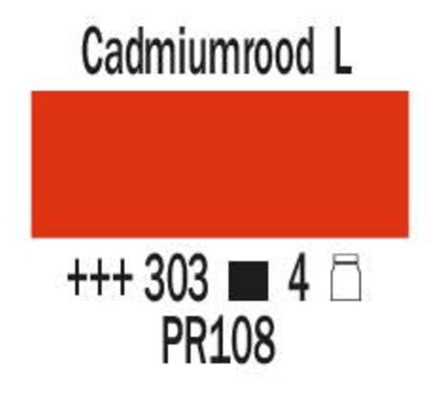 Amsterdam expert 150ml acrylverf 303 Cadmiumrood licht