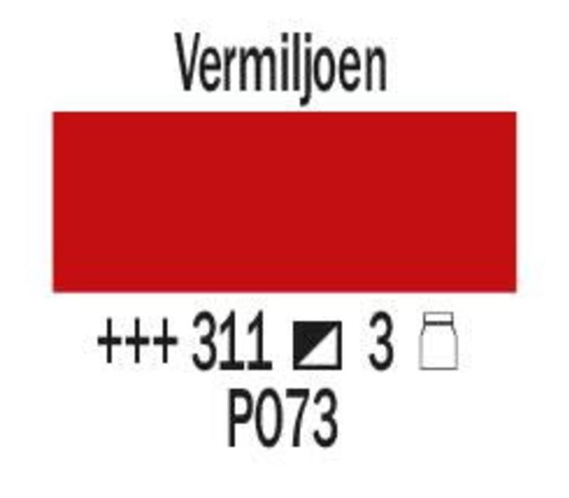 Amsterdam expert 75ml acrylverf 311 Vermiljoen