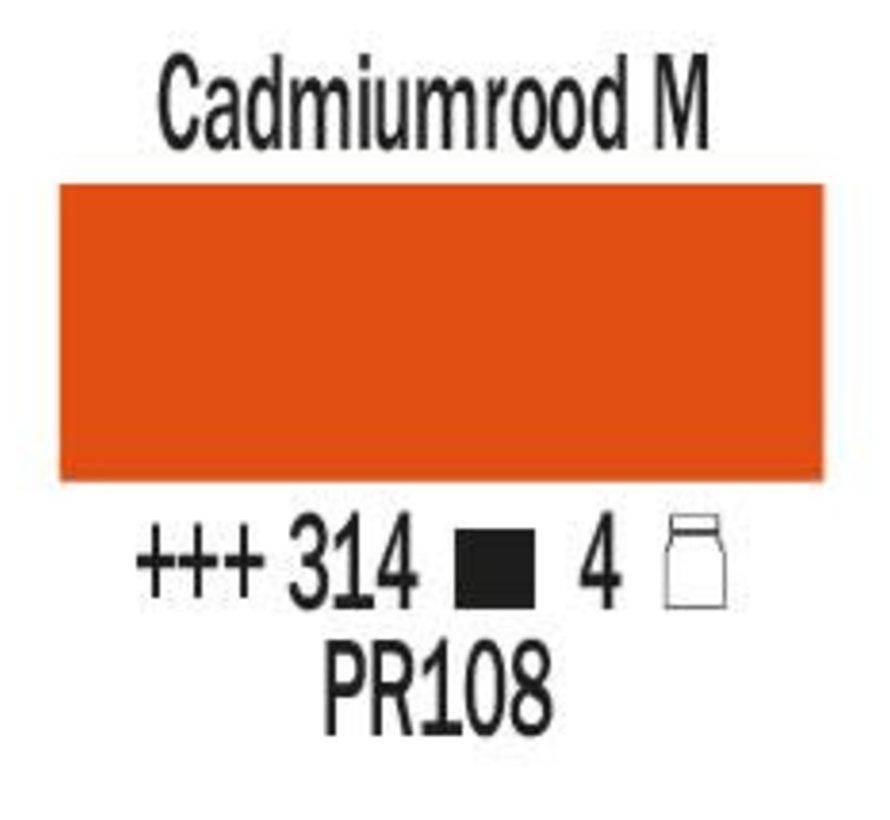 Amsterdam expert 150ml acrylverf 314 Cadmiumrood middel