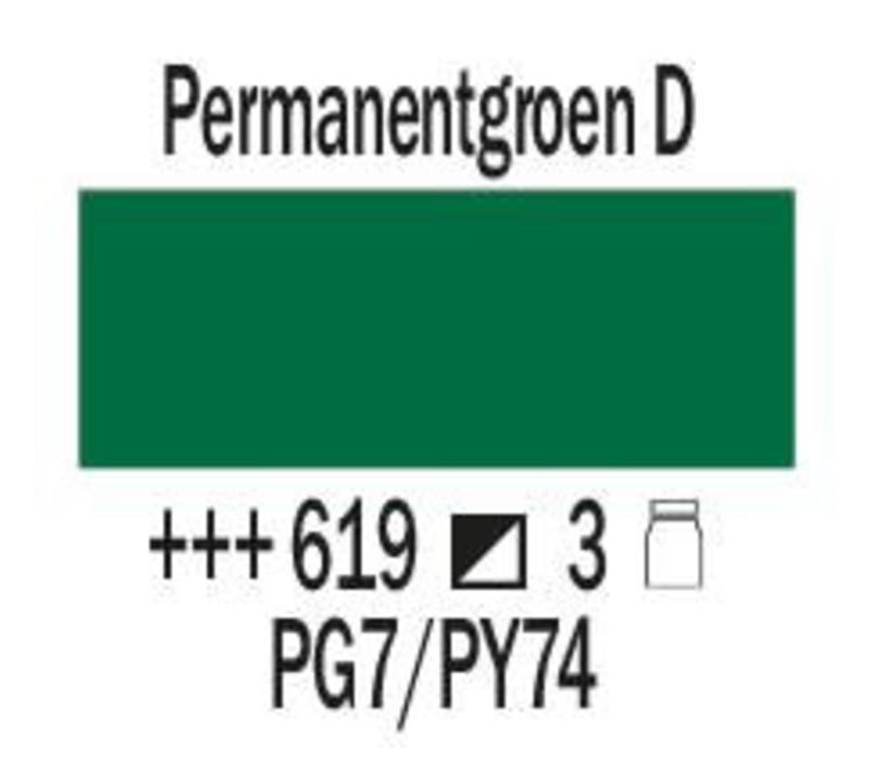 Amsterdam expert 150ml acrylverf 619 Permanentgroen donker