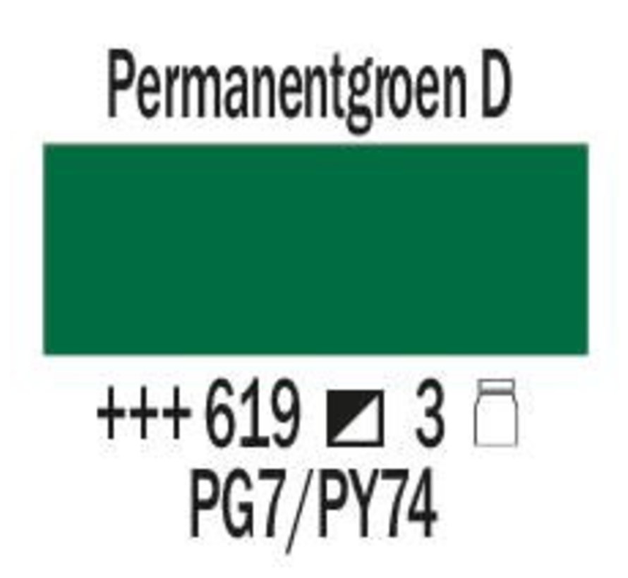 Amsterdam expert 75ml acrylverf 619 Permanentgroen donker