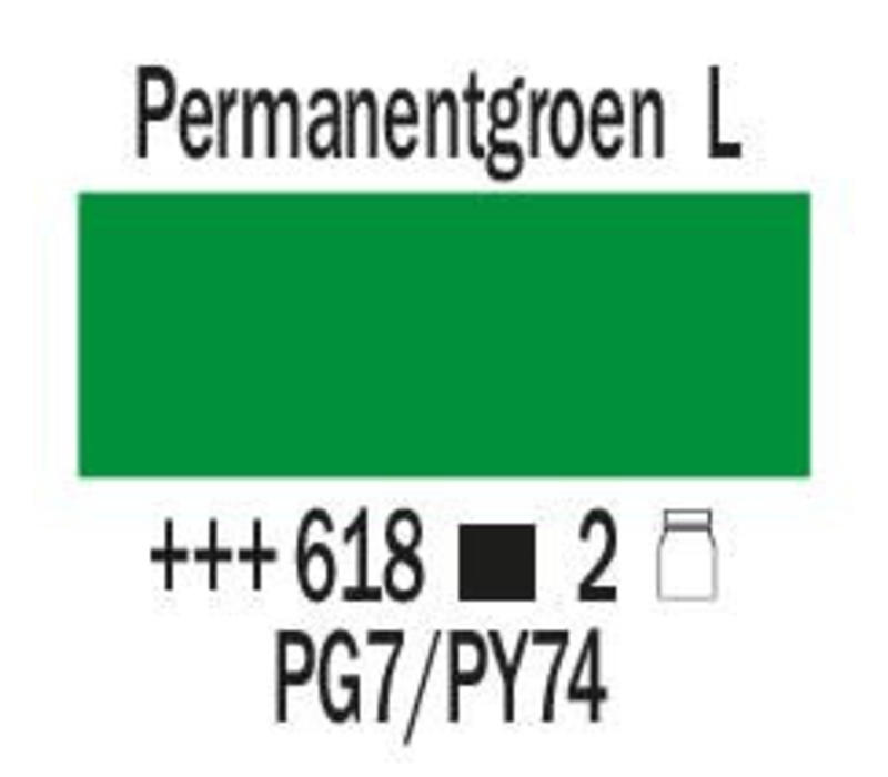 Amsterdam expert 150ml acrylverf 618 Permanentgroen licht