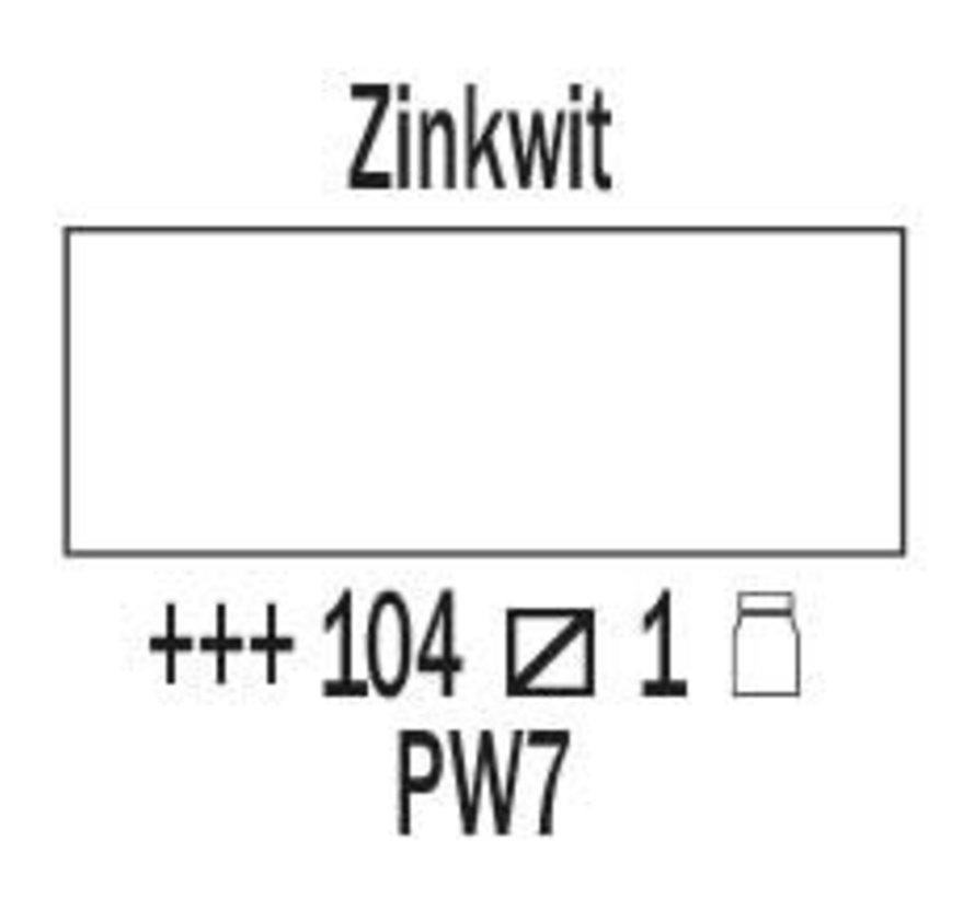Amsterdam expert 75ml acrylverf 104 Zinkwit