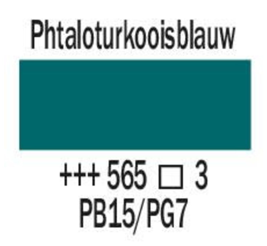 Amsterdam expert 75ml acrylverf 565 Phtaloturkooisblauw