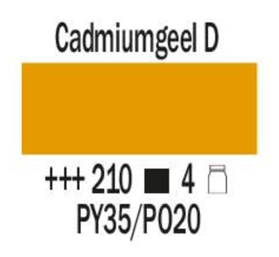 Amsterdam expert 75ml acrylverf 210 Cadmium geel donker