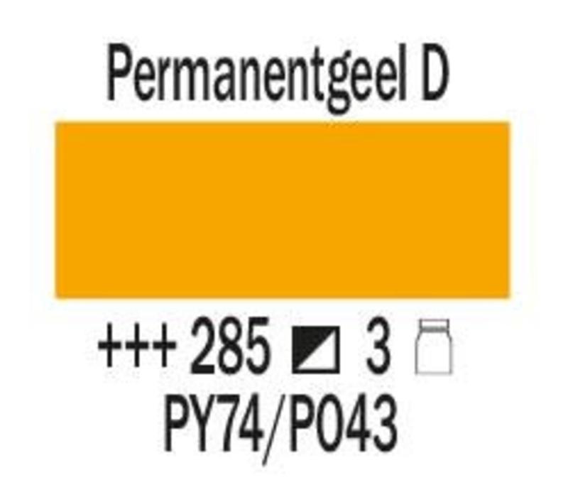Amsterdam expert 75ml acrylverf 285 Permanentgeel donker