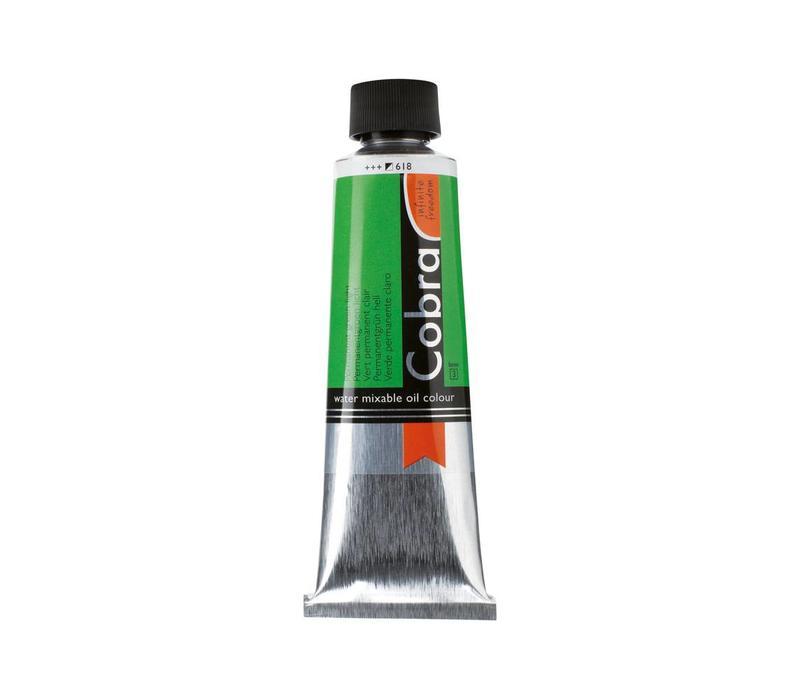 Cobra artist 150ml olieverf 618 Permanentgroen licht