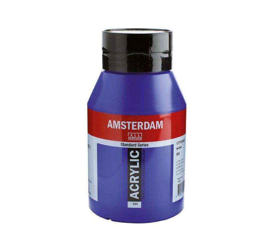 Amsterdam acrylverf 1 liter standard 504 Ultramarijn