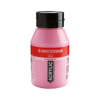 Amsterdam acrylverf 1 liter standard 385 quinacridone rose licht