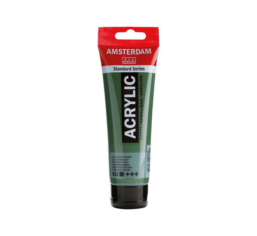 Amsterdam acrylverf 120ml standard 622 Olijfgroen donker