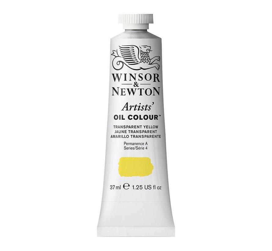 W&N Artists olieverf 37ml Transparent Yellow 653