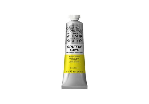 Winsor & Newton W&N Griffin Alkyd olieverf 37ml Winsor Lemon