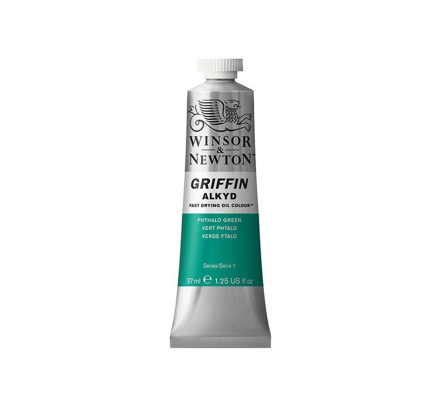 W&N Griffin Alkyd olieverf 37ml Phthalo Green 522