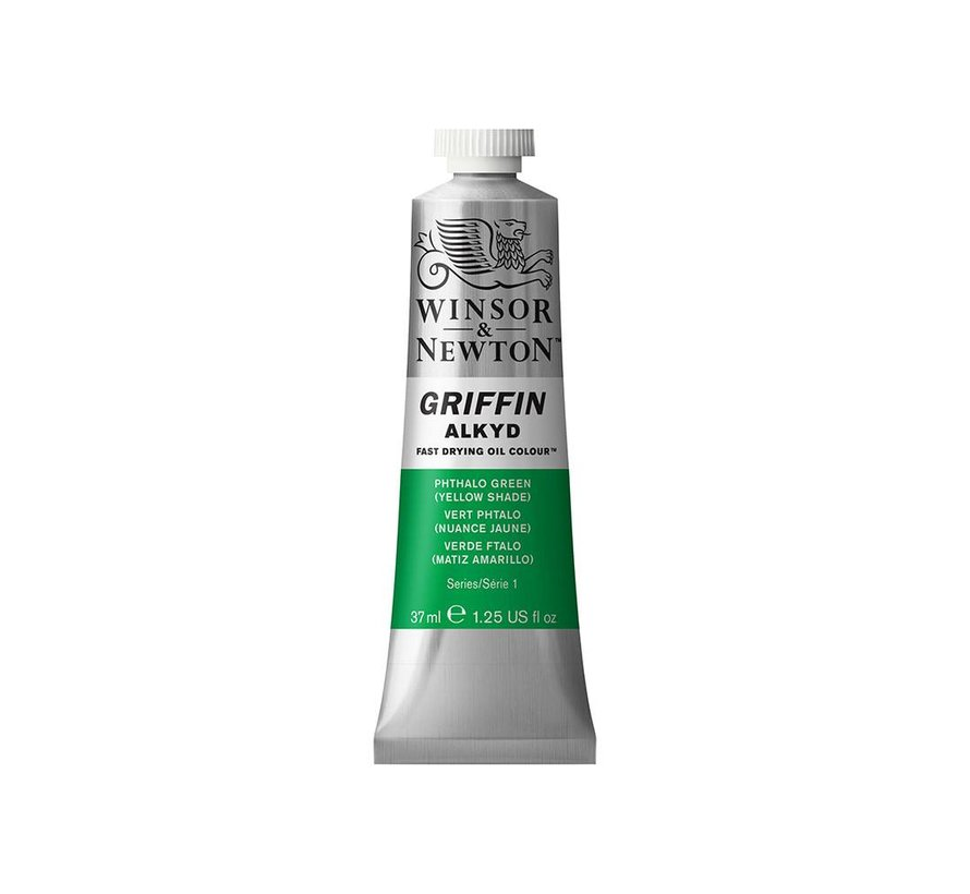 W&N Griffin Alkyd olieverf 37ml Phthalo Green(Yellow Shade)521