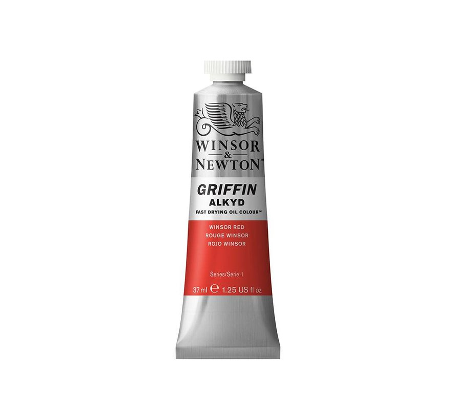 W&N Griffin Alkyd olieverf 37ml Winsor Red 726