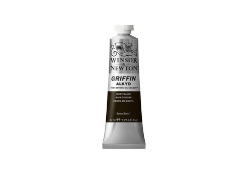 Winsor & Newton W&N Griffin Alkyd olieverf 37ml Ivory Black