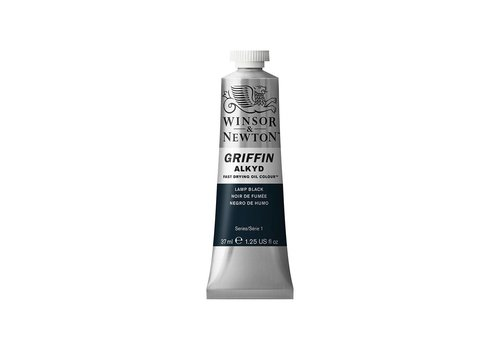 Winsor & Newton W&N Griffin Alkyd olieverf 37ml Lamp Black