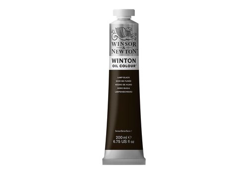 Winsor & Newton W&N Winton olieverf 200ml Lamp Black