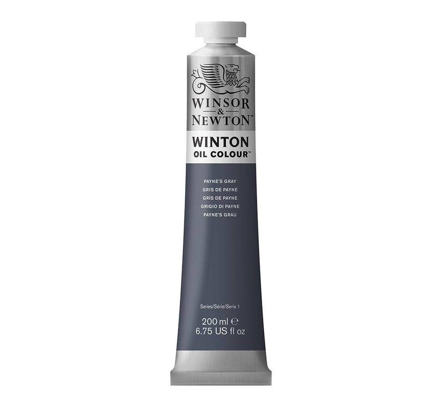 W&N Winton olieverf 200ml Payne's Grey 465