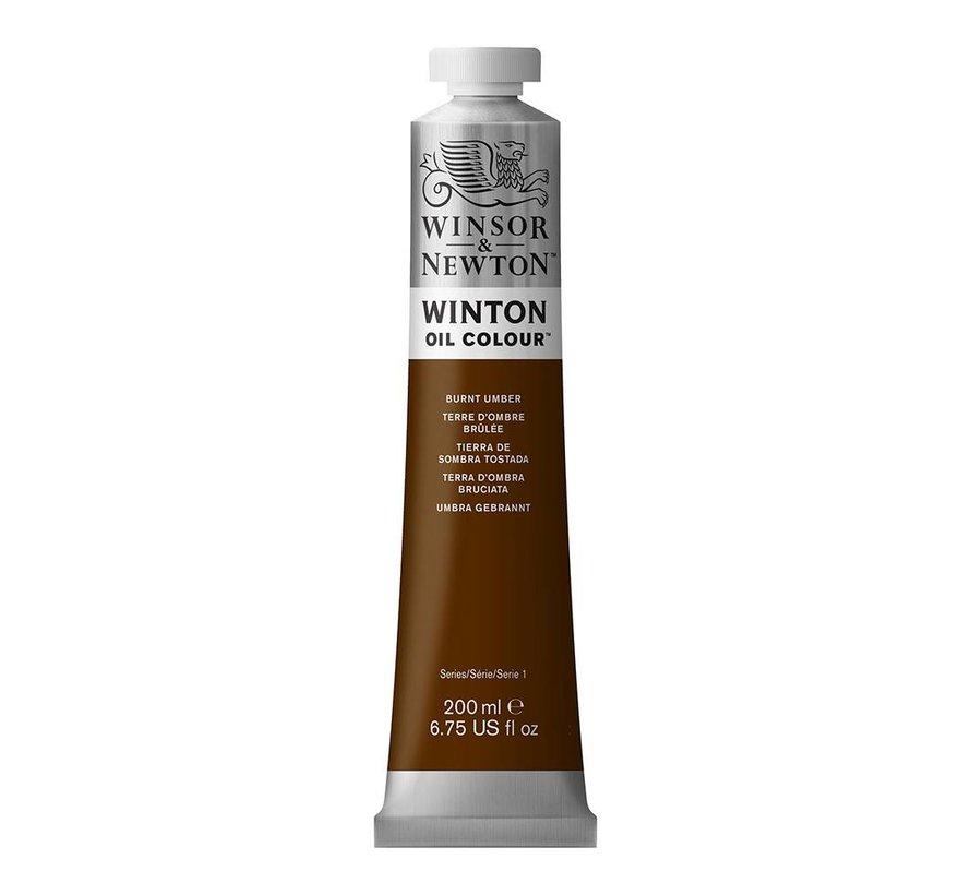 W&N Winton olieverf 200ml Burnt Umber 076
