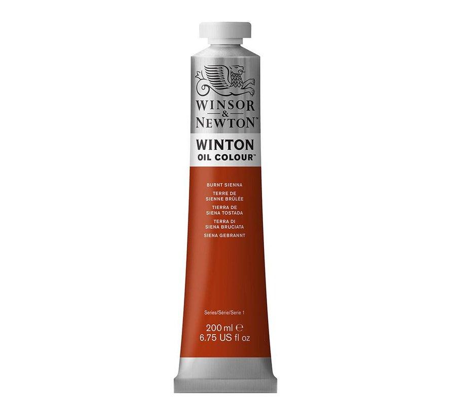 W&N Winton olieverf 200ml Burnt Sienna 074