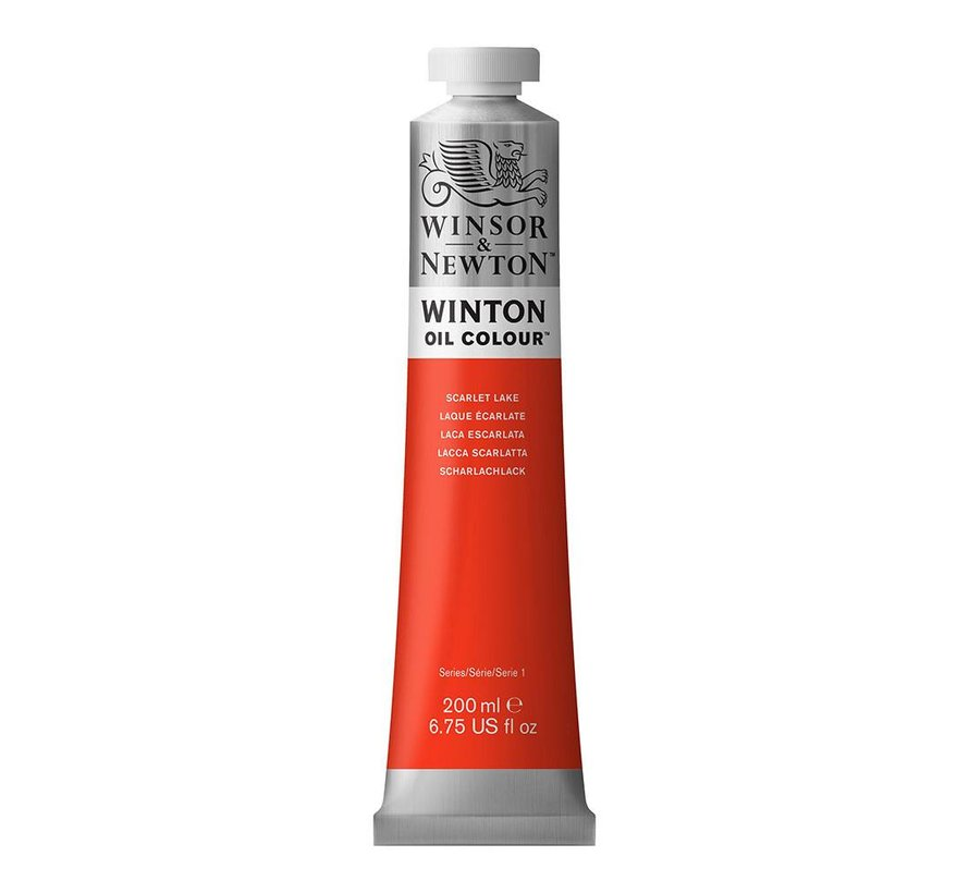W&N Winton olieverf 200ml Scarlet Lake 603