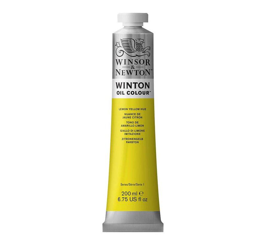 W&N Winton olieverf 200ml Lemon Yellow Hue